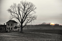 Do You Remember When... ? (SteveFrazierPhotography.com) Tags: farm house homestead abandoned old sun setting sunset winter illinois il farming farmland agriculture rural country countryside landscape scene scenery scenic outdoor evening stevefrazierphotography chili tonemapped monochrome selectivecolor silverefexpro photomatixpro5 beautiful