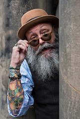 JImmy (Charles Hamilton Photography) Tags: streetportrait face peopleinthecity people edinburgh eyecontact primelens naturallight nikond750 beard tattoo tattooed oldtown characterstudy citycentre colourstreetportrait character charleshamilton style stranger cshamilton223gmailcom