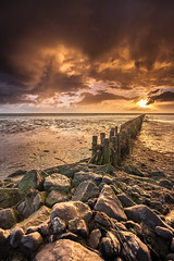 Sonnenaufgang an der Nordsee (F!o) Tags: dagebüll nordsee nordseeküste pferd sonnenaufgang deich jadebusen küste leuchtturm nordseen ostsee ngc