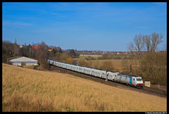 RTB Cargo 185 638, Elze 16-03-2017 (Henk Zwoferink) Tags: elze niedersachsen duitsland de rtb cargo rurtalbahn henk zwoferink cbr macquarie cb rail bombardier traxx railpool gatx falns hannover nord sud 185 638 ac
