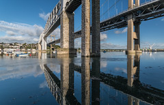 The Tamar Bridges. (Go placidly amidst the noise and haste...) Tags: saltashpassage royalalbertbridge bridges tamar rivertamar plymouth saltash devon cornwall southwest westcountry
