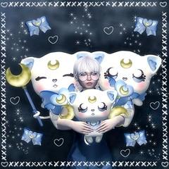 White Magical Cat :) (Fairyzette) Tags: lessucreriesdefairy les sucreries de fairy gacha gatcha sl second life secondlife cat plush toy kawaii japan fairyzette sahara project event