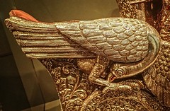 Closeup of a bird on an Elephant Throne (Howdah) Surguja India 1870-1920 CE Painted silver and gilt over wood (mharrsch) Tags: throne elephantthrone howdah silver gilt gilded bird india surguja transportation 19thcenturyce asianart asianartmuseum sanfrancisco california mharrsch