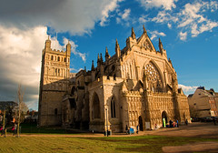 Exeter Cathedral (Travis Pictures) Tags: exe exeter devon southwestengland westcountry southdevon city citycentre church churchofengland cathedral exeterdiocese england worship religiousbuilding nikon d5200 photoshop summer sunny outdoors outside britain uk