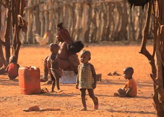Himba Children Himba Village Kamanjab Damaraland Namibia South West Africa