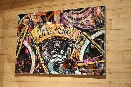 Gemälde im Mountain Motorcycle Museum