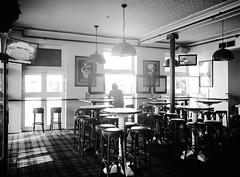 Into the light (doubleshotblog) Tags: pubsadness sydney australia doubleshotblog bw australianpub intothelight