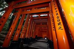Fushimi Inari Shrine (Sailormonkey) Tags: calligraphy orange shrine japan