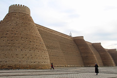 The Ark, a mighty fortress in Bukhara, Uzbekistan