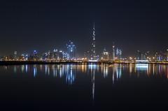 Urban Waveform, Dubai (Rajesh Vijayarajan Photography) Tags: rajeshvj rajeshvijayarajanphotography rajeshvijayarajan rajeshonflickr skyscrapers skyline citylights cityscape dubai uae unitedarabemirates burjkhalifa nikond7000
