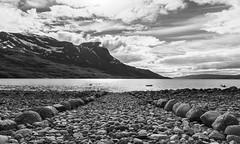 Rocky beach (Antti Tassberg) Tags: meri kesä landscape norja travel bw scandinavia hdr vuono fjord narvik ranta beach blackandwhite monochrome norge norway sea shore nordland no
