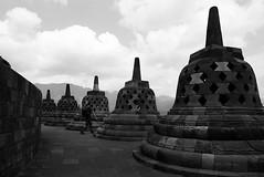 (cherco) Tags: borobudur temple templo java hindu alone lonely solitario solitary boy blackandwhite blancoynegro sky indonesian indonesia stupa estupa stone repetition repeticion loner aloner