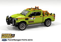 PowerMiners - Ford Ranger Mining Pickup (P375ICA - 2015) (lego911) Tags: power miners powerminers ford ranger p375ica p375 ica pickup ute utility 2015 truck auto car moc model miniland lego lego911 ldd render cad povray lugnuts challenge 118 makeitatheme make it theme mining foitsop 2010s australia asiapacific commercial vehicle