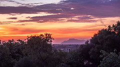 Farewell to Mallorca (Jens Haggren) Tags: morning view sunrise sky colours trees mountains sea mediterraneansea water clouds mallorca spain jenshaggren
