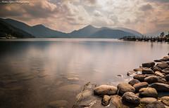 Lake Chuzenji (Nikko,Japan) (Mattia Lepri) Tags: japan lake chuzenji nikko travel water canon stones rocks longexposure nd ndfilter bigstopper clouds landscape reflectionmountains