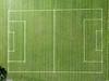 Luftbild: Fußballplatz (wuestenigel) Tags: köln phantom3 dji travel reiseblogger digitalnomad luftaufnahme cologne reisen aerial aerialphotography sommer luftbildaufnahme nordrheinwestfalen deutschland de texture textur design entwurf noperson keineperson ground boden desktop pattern muster retro field feld grass gras empty leer stadium stadion soil paper papier abstract abstrakt bamboo bambus wallpaper tapete line linie football fusball canvas segeltuch old alt