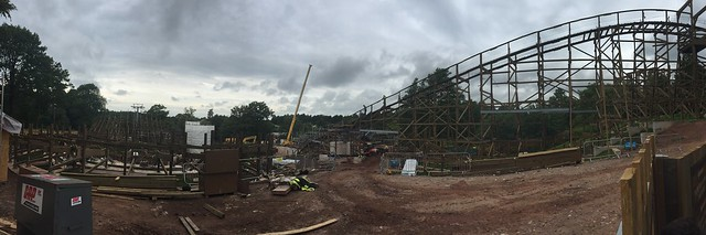 SW8 Construction Site Panorama - 11th August 2017