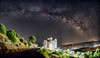 Galactic Arch above Holy Mother's (n.pantazis) Tags: outdoors sky skyscape nightscape panorama panoramic stars milkyway andros korthion korthi aegean sea island pentaxks2 tamron ice
