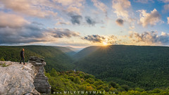 Lindy Point Selfie (Mike Ver Sprill - Milky Way Mike) Tags: lindy point selfie self portrait pano panorama west virginia sunburst sunset sun clouds trees tree green beautiful valley travel wv mike ver sprill michael versprill nature landscape traveler traveller