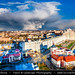 Belarus - Minsk - Aerial view of cityscape during dramatic stormy weather