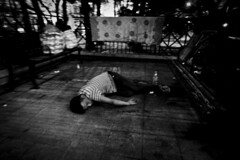 R0069150 (KC KWAN) Tags: streetphotography blackwhite 28mm 21mm hongkong snap people grdiv ricoh cityofdarkness homebound alley kc kwan kckwan interesting interestingness explore explored black darkened dim dingy drab gloomy misty murky overcast shadowy somber