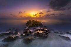 The Dawn is Breaking a Light Shining Through (Anne Strickland) Tags: macphunaurora nisifilters longexposure sunrise jupiterflorida floridacoast floridabeach florida atlanticocean coralcovebeach dawn