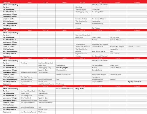 2017 Scranton Fringe Festival Schedule 2