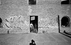 (David Chee) Tags: leica m6 21mm summilux summiluxm asph f14 kodak trix 400 hc110 newyork nyc brooklyn dumbo st anns warehouse graffiti street rangefinder film analog blackandwhite bw