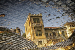 reflection... (Theophilos) Tags: pavement reflection old building drama makedonia greece πεζοδρόμιο αντανάκλαση παλιό κτίριο δράμα μακεδονία ελλάδα