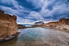 El cielo y el mar. (Pilar Lozano ♥) Tags: mar cielo nubes rocas peñón ifach pilar lozani♥