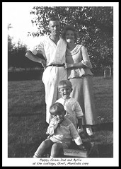 1919 Pappy, Gram, Dad and Byllie at Gimli (arbutushilldesign) Tags: gimli manitoba 1919 harryfeir bylliemurray annafeir