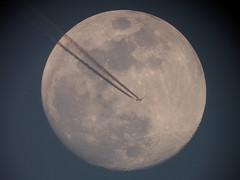 La Lune et l'avion - 09 avril 2017 (Didier Auberget Astrophotographie) Tags: astrophotographie astrophotography lune avion plane astronomie astronomy transit moon télescope telescope canoneos500d ciel sky