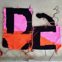 My progress as of this morning (crochetbug13) Tags: crochetbug crochet crocheted crocheting loveacrosstheusa olek raleigh northcarolina crochetsquares crochetpanels crochetinstallation