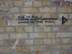 Pink Floyd -The Wall Street art,  London (rylojr1977) Tags: london stencil art pinkfloyd lyrics text writing irony music thewall graffiti streetart slogan