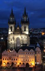 PRAGUE (dayvmac) Tags: prague cathedral praguecathedral night church czech republic nightphotography timeexposure