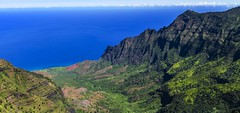 Kalalau Valley, Kauai (benereshefsky) Tags: kauai hawaii island garden gardenisland napali coast ocean beach cliffs green canyon waimea kalalau travelphotography travel travelphotographer helicopter waterfall kokee lookout overlook fins puuokila valley