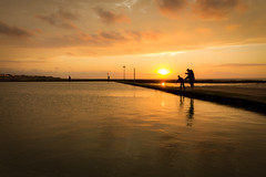 Crabbing [Explored] (pauldgooch) Tags: sand england sunset tidalpool port canon kent thanet margate eos 2017 maritime 600d uk silhouette fishing beach seascape sea coast harbour seaside unitedkingdom gb