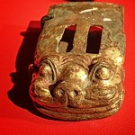Gilded Bronze fitting for a chariot pole depicting a tiger Tomb 1 Dayun Mountain Xuyi Jiangsu China Western Han Period 2nd century BCE thumbnail
