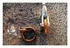 Shackles..... (PAUL YORKE-DUNNE) Tags: ringblots shackles wire stone plastictie