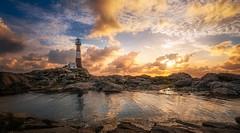 Standing tall (BjørnP) Tags: lighthouse landscape sunset clouds light sea water ocean reflection sony egersund eigerøy norge norway dalane rogaland bjørkeland peder bjørn colors seascape