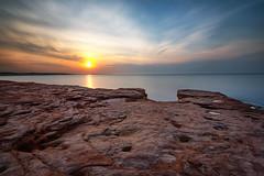Cavendish, PEI (B.E.K.) Tags: cavendish pei princeedwardisland sunset sky water longexposure sandstone ocean cloud rock beach nikond600 nikon1735f28 canada canada150