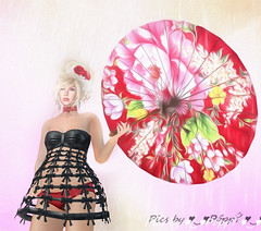 Little china girl  (13) (Poppys_Second_Life) Tags: popi popikone popikonesadventuresin2l popisadventuresin2l 2l secondlife virtualphotography poppy picsbyⓟⓞⓟⓟⓨ sl chinese umbrella