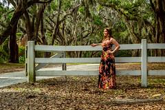My beautiful wife Autumn:) (Brandon Westerman WNP) Tags: wormsloe historic site state park plantation fence road oak avenue tree autumn wife beautiful nikon flickr summer portrait lady