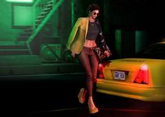 To the airport! (Anuska L.) Tags: summernights night street streetcolours taxi 3d 3dpeople 3dgirls 3design 3dart digital digitalart digitalphotography digitalfashion dreams august fashionblog fashionvictims fashion fashionista fashionblogger femalefashion femme femmefatale