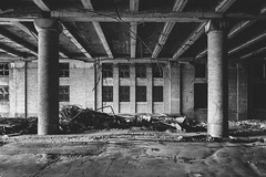 song.of.annihilation (jonathancastellino) Tags: architecture abandoned derelict decay ruin ruins bct ny usa buffalo train station facade path pillar pillars leica q passage tunnel collapse beam beams