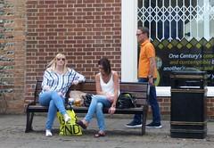 On the Bench (Bury Gardener) Tags: streetphotography street streetcandids candid candids people peoplewatching folks strangers burystedmunds suffolk england eastanglia uk 2017 cornhill