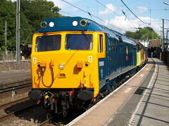 Unexpected convoy (Oz_97) Tags: kingsnorton 50050 56049 50017 britishrail networksoutheast colasrailfreight