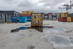 Harbour (AstridWestvang) Tags: building containers crane harbour industry larvik reflection