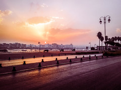 On the way to work (Jamal Benamer) Tags: sunrise morning towork orange sky oldphone samsung river early firstlight light atmospheric timeofday emptyroad earlymorning beautifulmorning orangesky morningbreeze bonjour goodmorning riverview landscape citylandscape rabatcity morocco