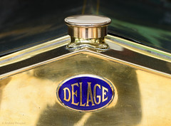 33 Clean (manxmaid2000) Tags: delage car 1910 metal shine tourer brass bonnet vehicle badge decal marque french luxury automobile classic polish shiny blue bronze copper